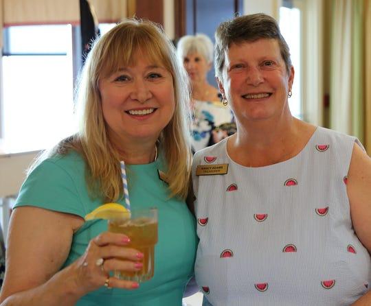 Past Treasurer Liz Knapp and Treasurer Nancy Adams.