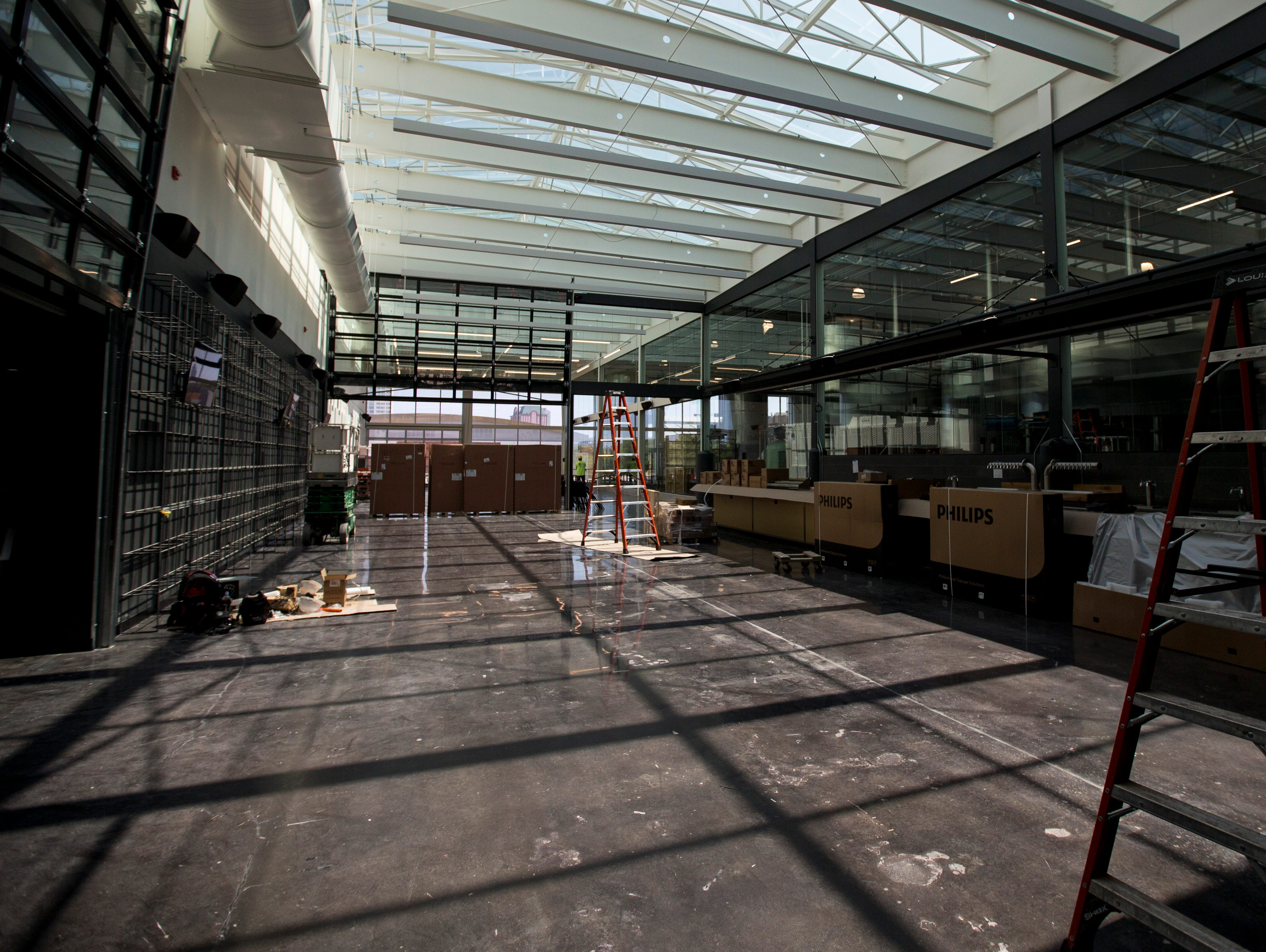 Workers will have Glass + Griddle, the restaurant and beer hall in the building shared by MKE Brewing, ready for customers on Aug. 29.