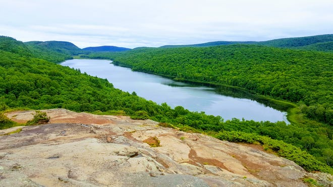 Lake of the Clouds is one of the most popular spots in the Porcupine Mountains Wilderness State Park in Michigan's Upper Peninsula.