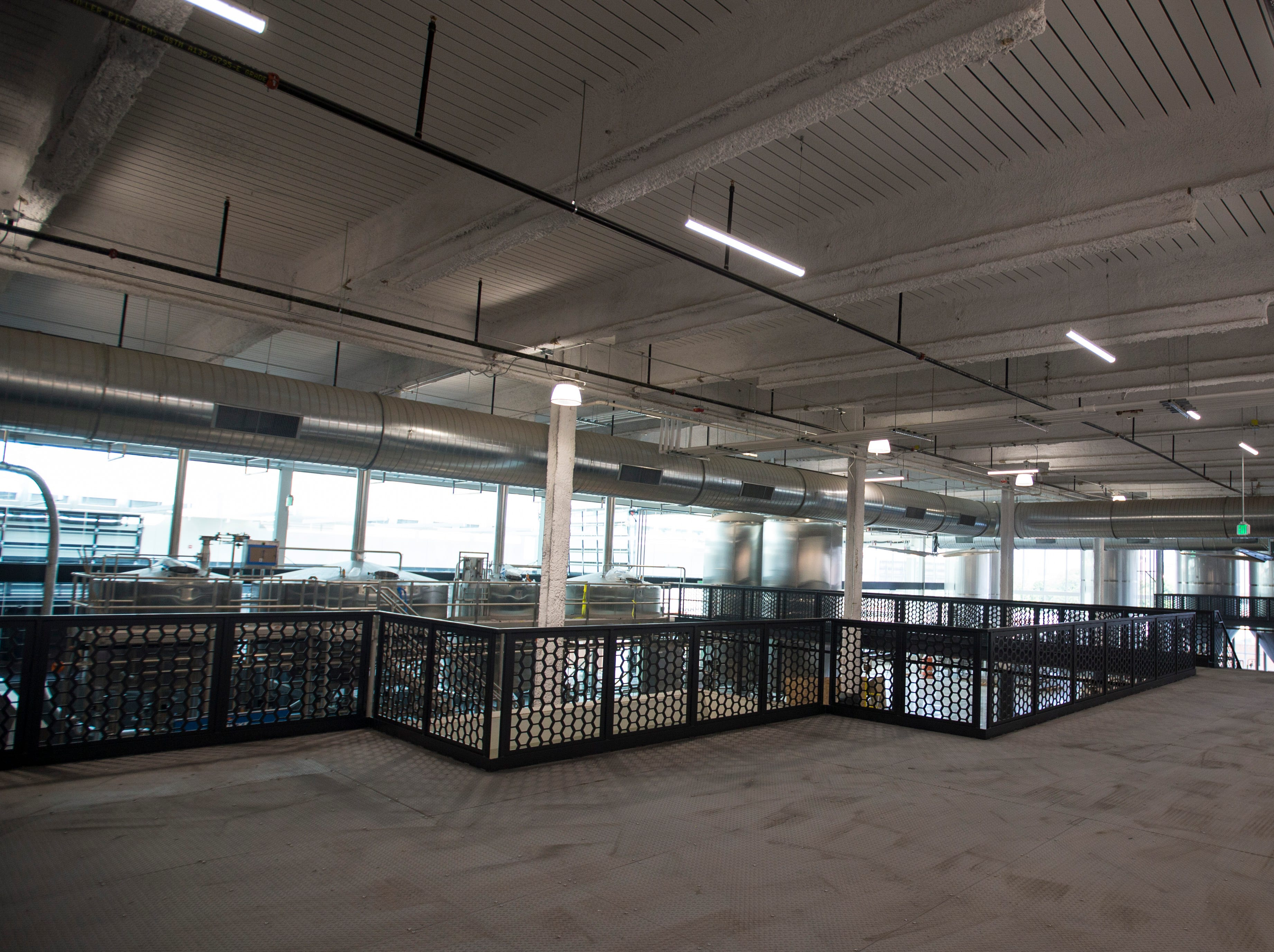 Tours at the new MKE Brewing will gather in open space but will take visitors close to the action, just as they do in the current 2nd street location.  The gathering area gives beer lovers a look at the entire process from brewing to packaging.