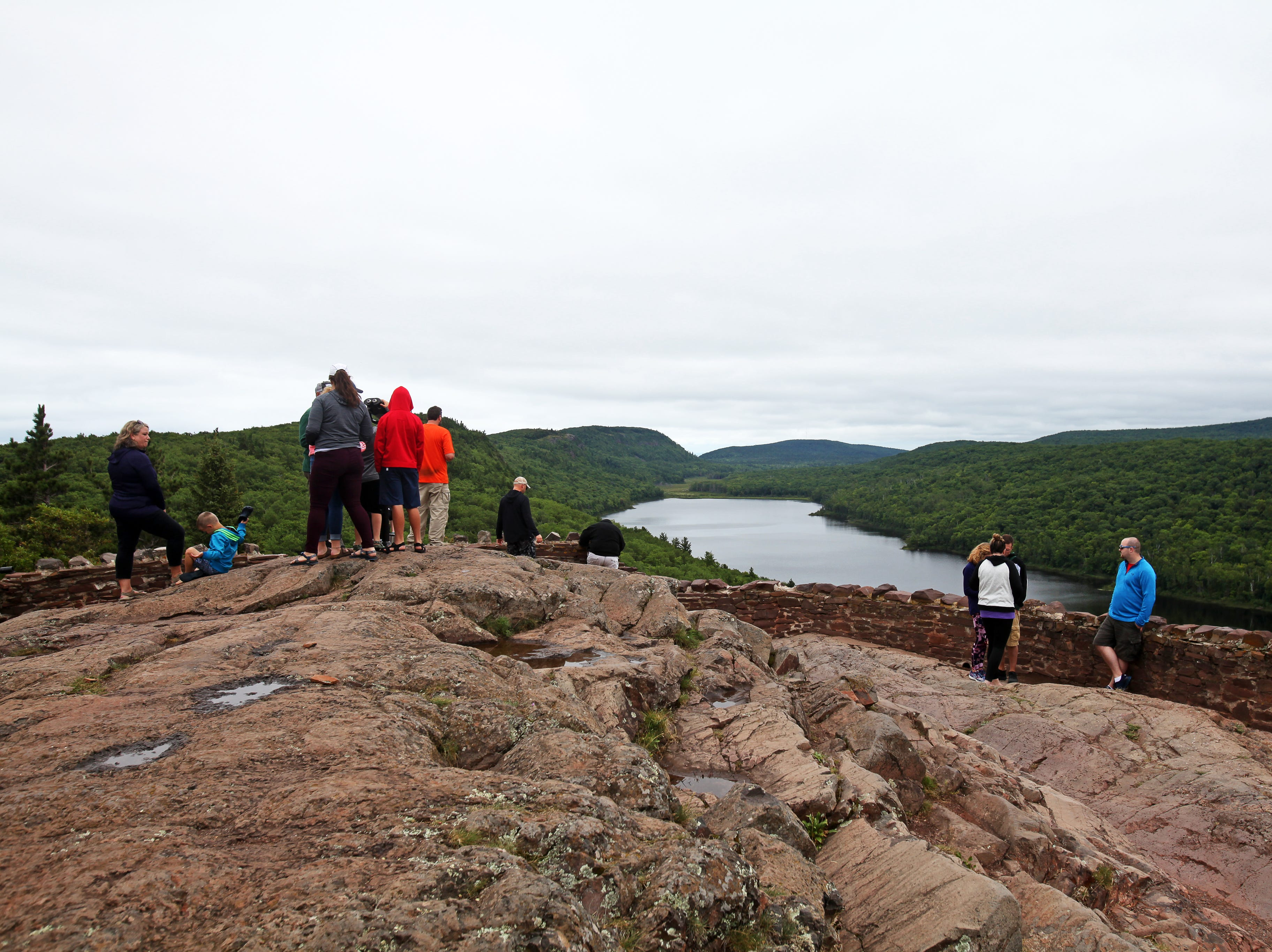 The Lake of the Clouds overlook is one of the most popular spots in the Porcupine Mountains Wilderness State Park in Michigan's Upper Peninsula.