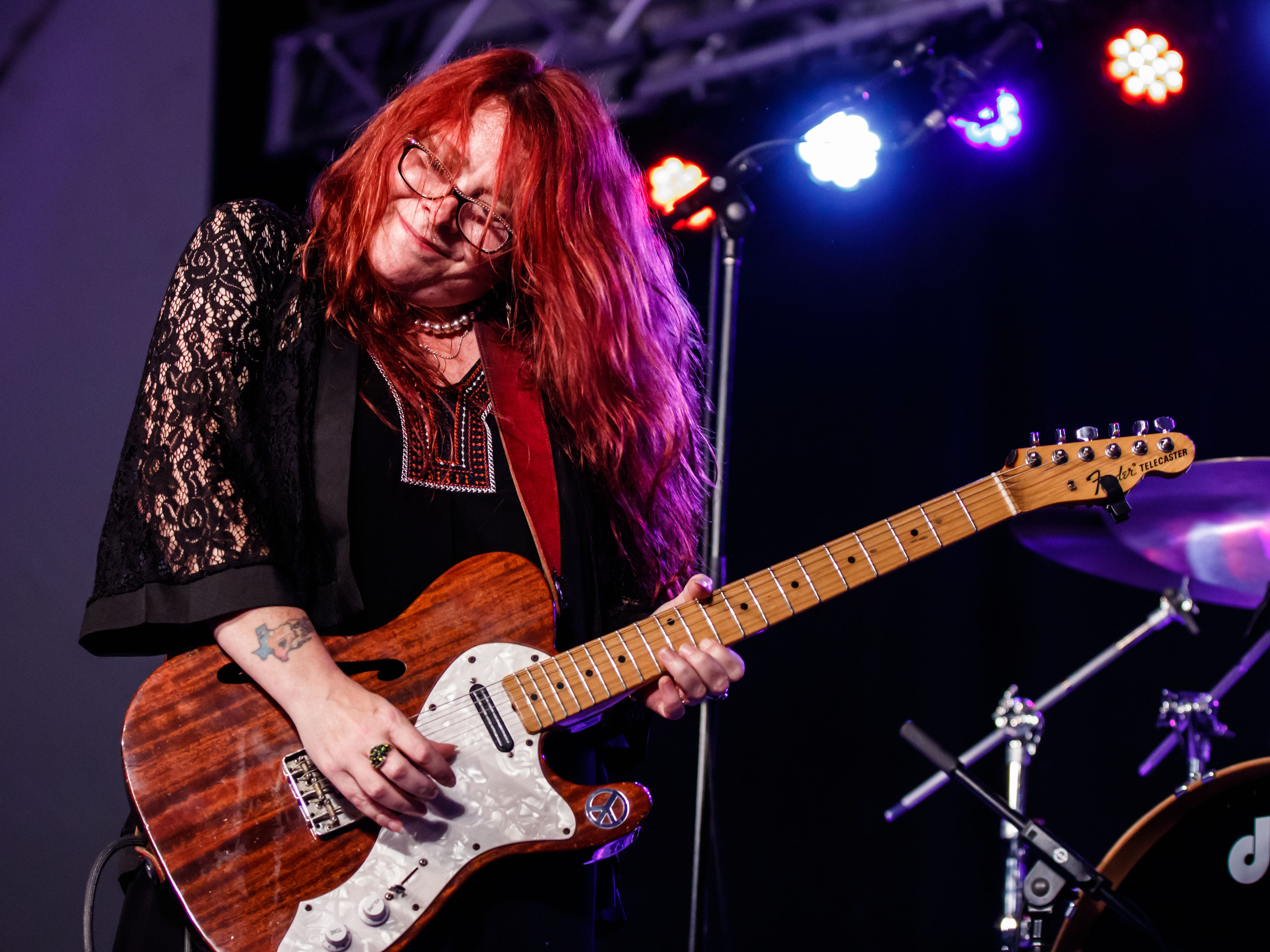 Carolyn Wonderland performs with her band at the 12th annual Waukesha Rotary BluesFest in Naga-waukee Park on Friday, August 10, 2018. The annual two-day music and art festival features live music, food and beverages, artist displays and more.