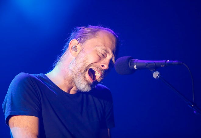 Thom Yorke of the British band Radiohead performs during a summer 2018 North American tour in support of the band's latest album A Moon Shaped Pool, at the United Center on July 6, 2018, in Chicago. Yorke's solo tour will stop at the Riverside Theater in Milwaukee Dec. 5. Tickets are $55, available beginning at 10 a.m. Friday.