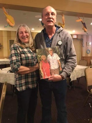 Sharon Larson (left) died June 23, 2018, after she was nipped by a puppy and developed an infection from the dog's saliva. She is pictured with her husband, Daniel.