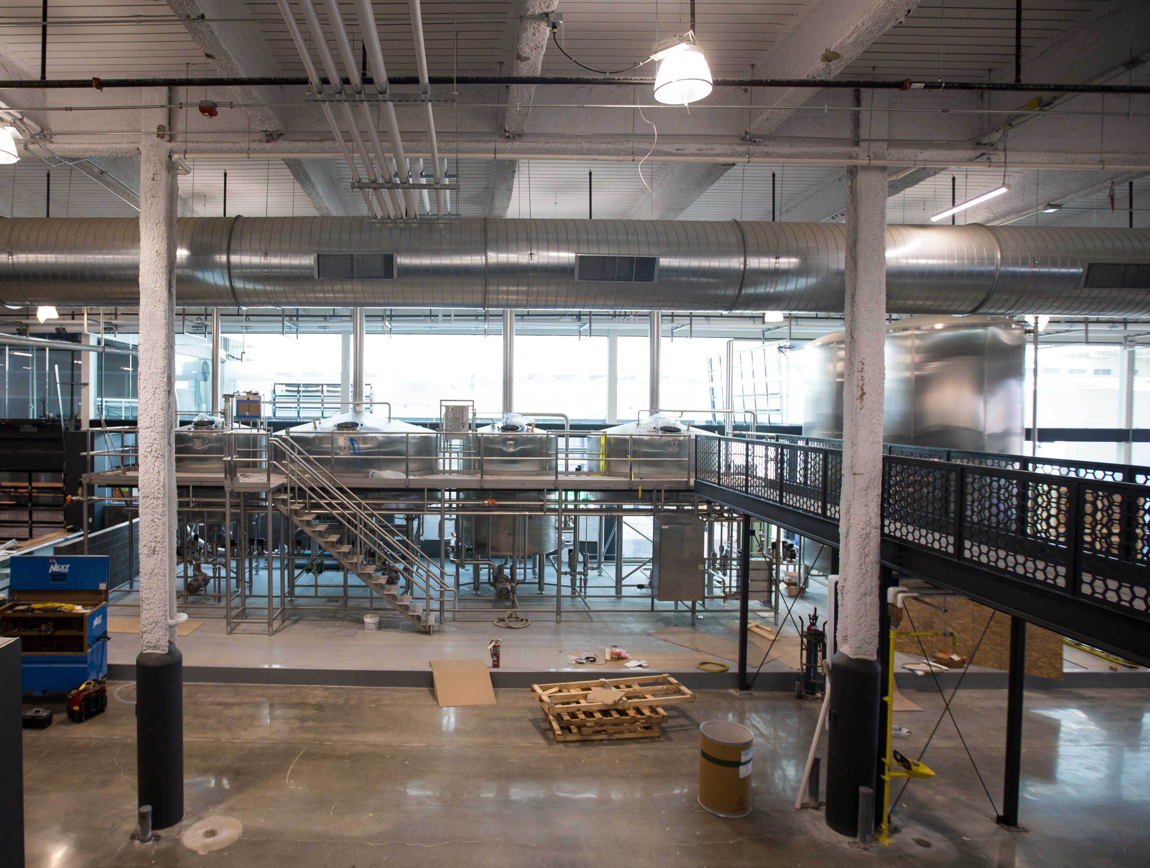 The brewing side at the new MKE Brewing has glass walls that allow customers to view the brewing process. Rockwell Automation will provide explanations of the process at each step.