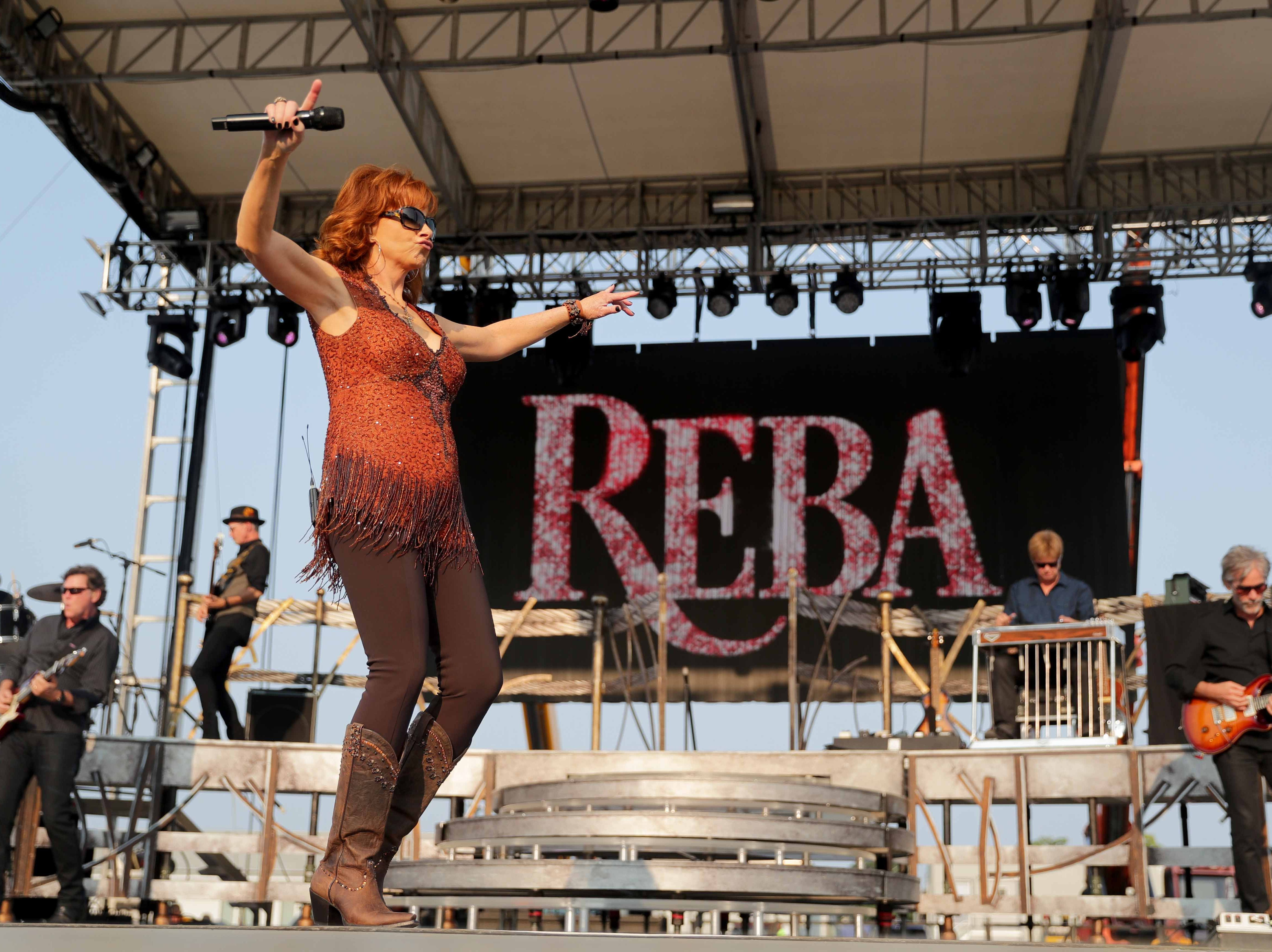 Reba McEntire performs at the Wisconsin State Fair.