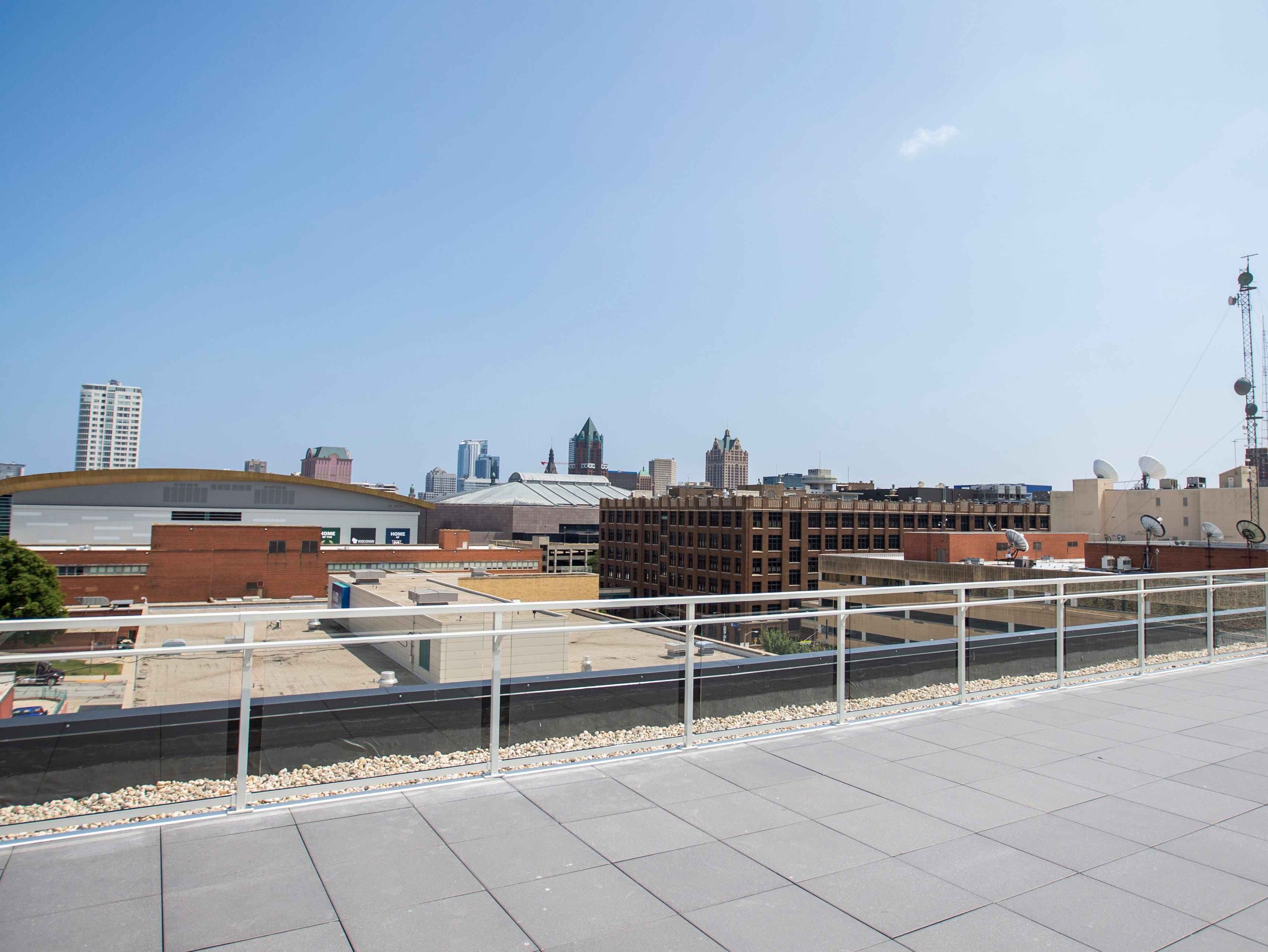 When it's finished, the rooftop view from The 42, which is home to Glass + Griddle and neighbor MKE Brewing, visitors will be able to sip brews and take in sweeping views.