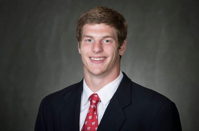 University of Wisconsin linebacker Mason Stokke.