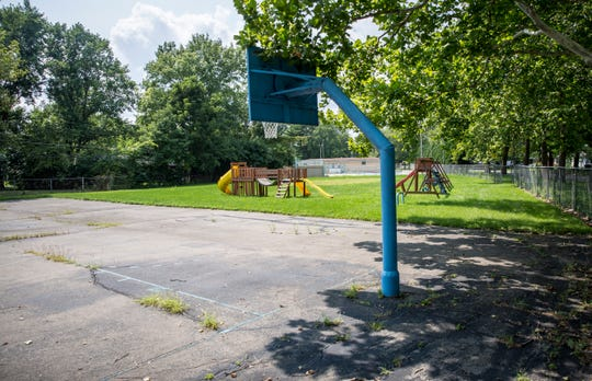 The park area of Halteman Village is in need of repairs after being closed down a year ago. The city is still in deliberation about what to do with the property.