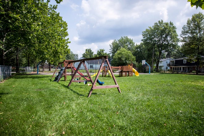 The park area of Halteman Village is in need of repairs after being closed down a year ago.