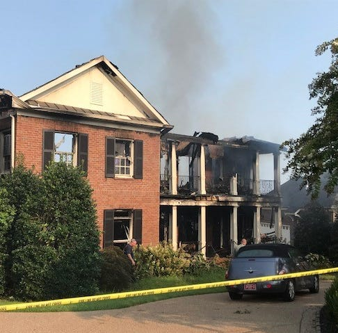 Investigators trying to find cause of Brentwood house fire in Governor's Club subdivision
