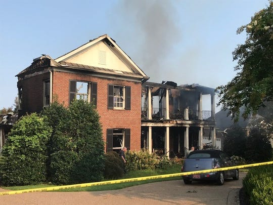 Brentwood firefighters are still trying to determine the cause of a fire that engulfed a home in flames on Sunday morning in the Governor's Club subdivision.