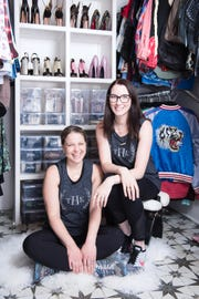 Clea Shearer and Joanna Teplin in Kacey Musgraves' decluttered closet.