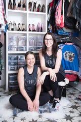 Clea Shearer and Joanna Teplin in Kacey Musgraves' decluttered closet.