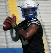 Former Hillsboro quarterback Micheal Hughes is trying to hang onto the starting position at Tennessee State.