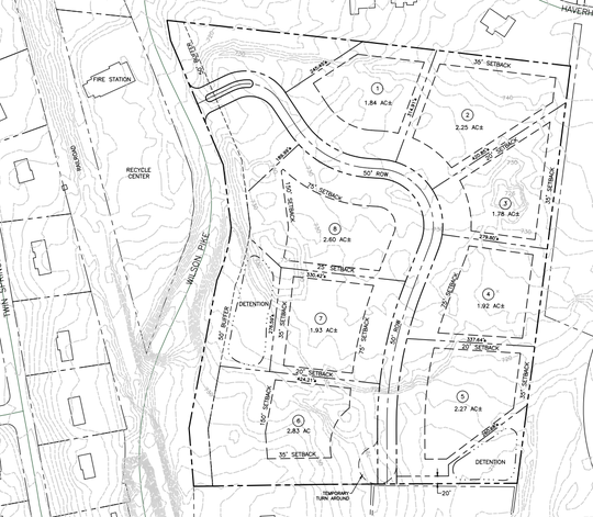 Developers seek to rezone 24 acres of land off Wilson Pike in Brentwood, across from the Williamson County Recycling Center, to allow for the development of eight new homes.