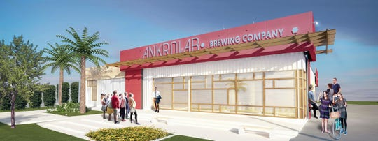 A rendering of Ankrolab Brewing Co. under construction next to San Julian Taqueria on Bayshore Drive in East Naples.