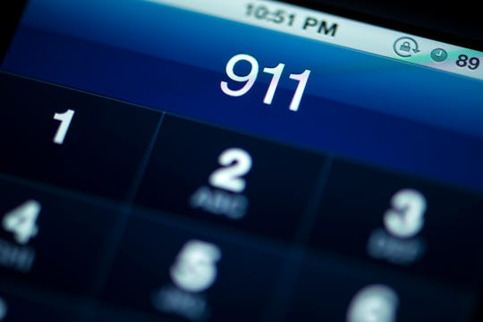 Calling 911 from smart phone.