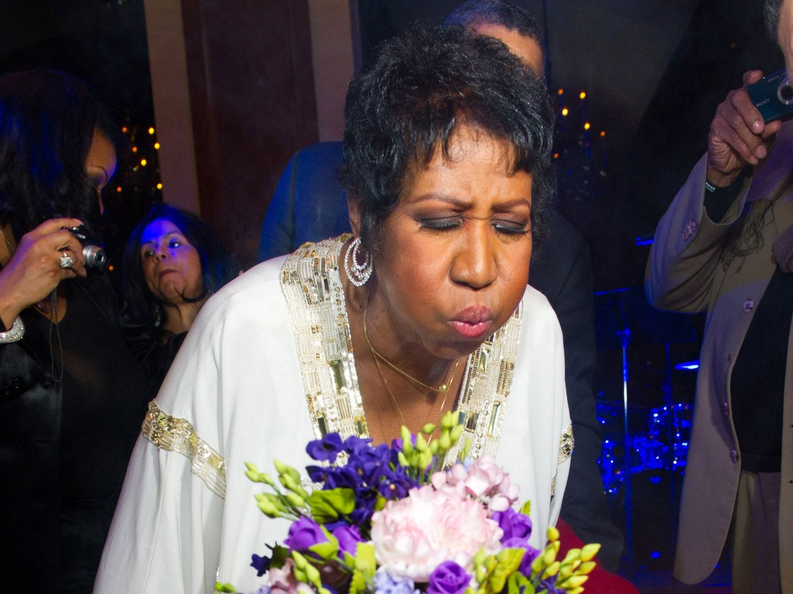 Aretha Franklin celebrates her 69th birthday, in New York, Friday, March 25, 2011.