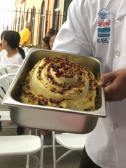 Persian Paradise Gelato ready for serving at the Gelato Festival America in Jersey City, August, 2018