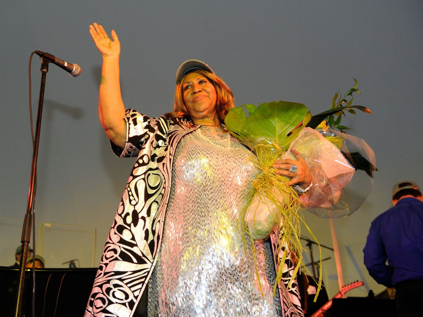 Aretha Franklin Headlines Cancer Survivor Event hosted by John Theurer Cancer Center at Hackensack University Medical Center and held at Liberty State Park in Jersey City. 09/30/2012