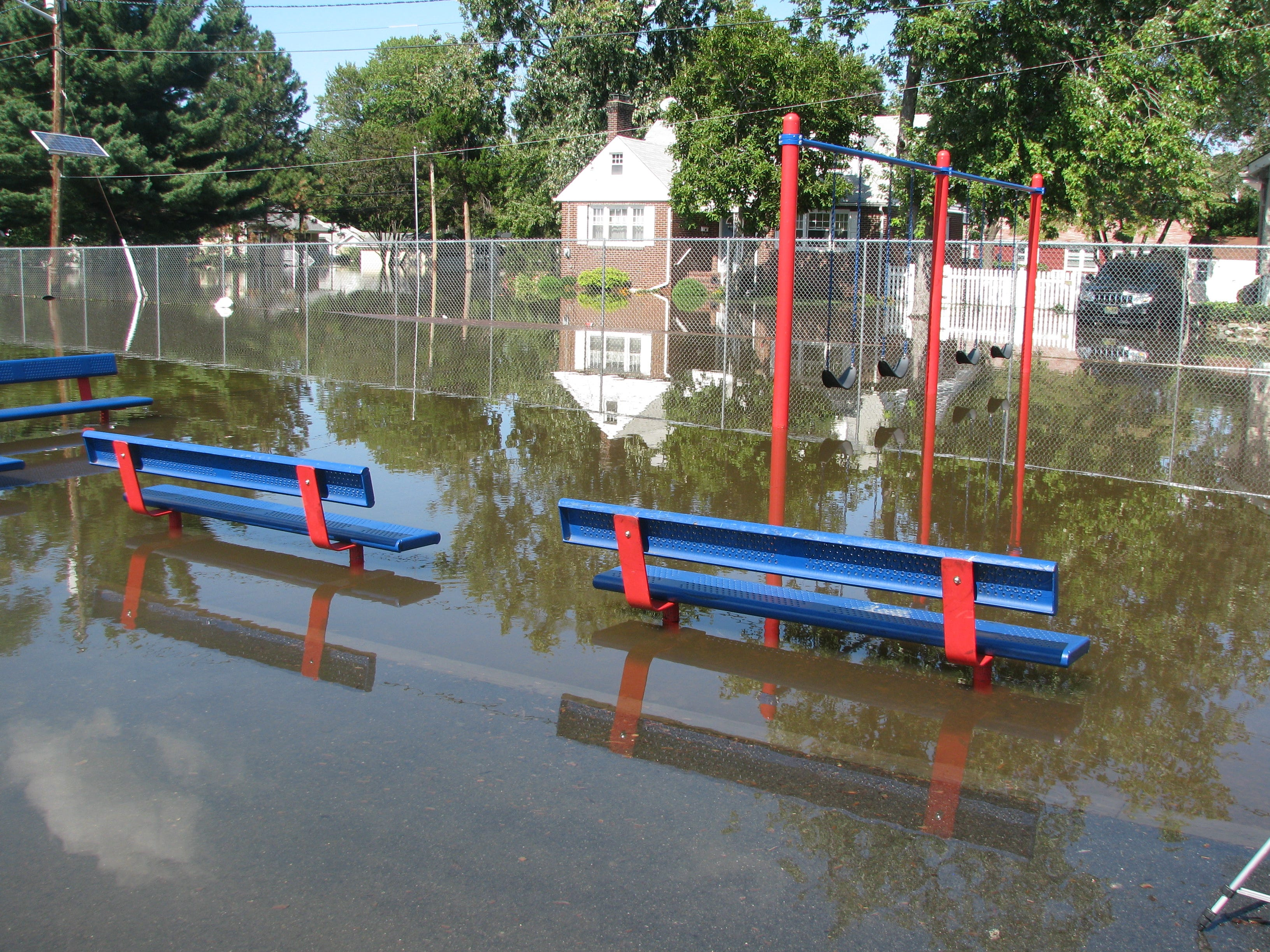 Flooding in Little Falls/Woodland Park following Hurricane Irene in 2011.