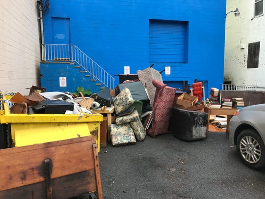 A flash flood damages the Studio Players' props in its Montclair basement on Aug. 11, 2018.