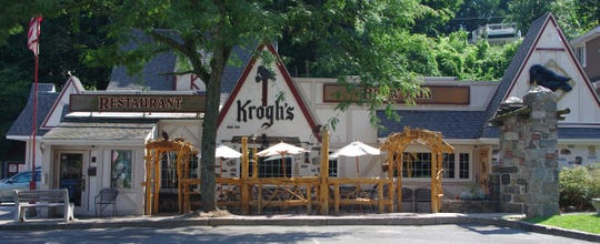 Krough's Restaurant & Brew Pub is designed in the Alpine architectural style.