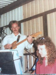 Bullard, many years ago, doing what he still does today . Only now his music raises funds for emergency crews in Lincoln County.