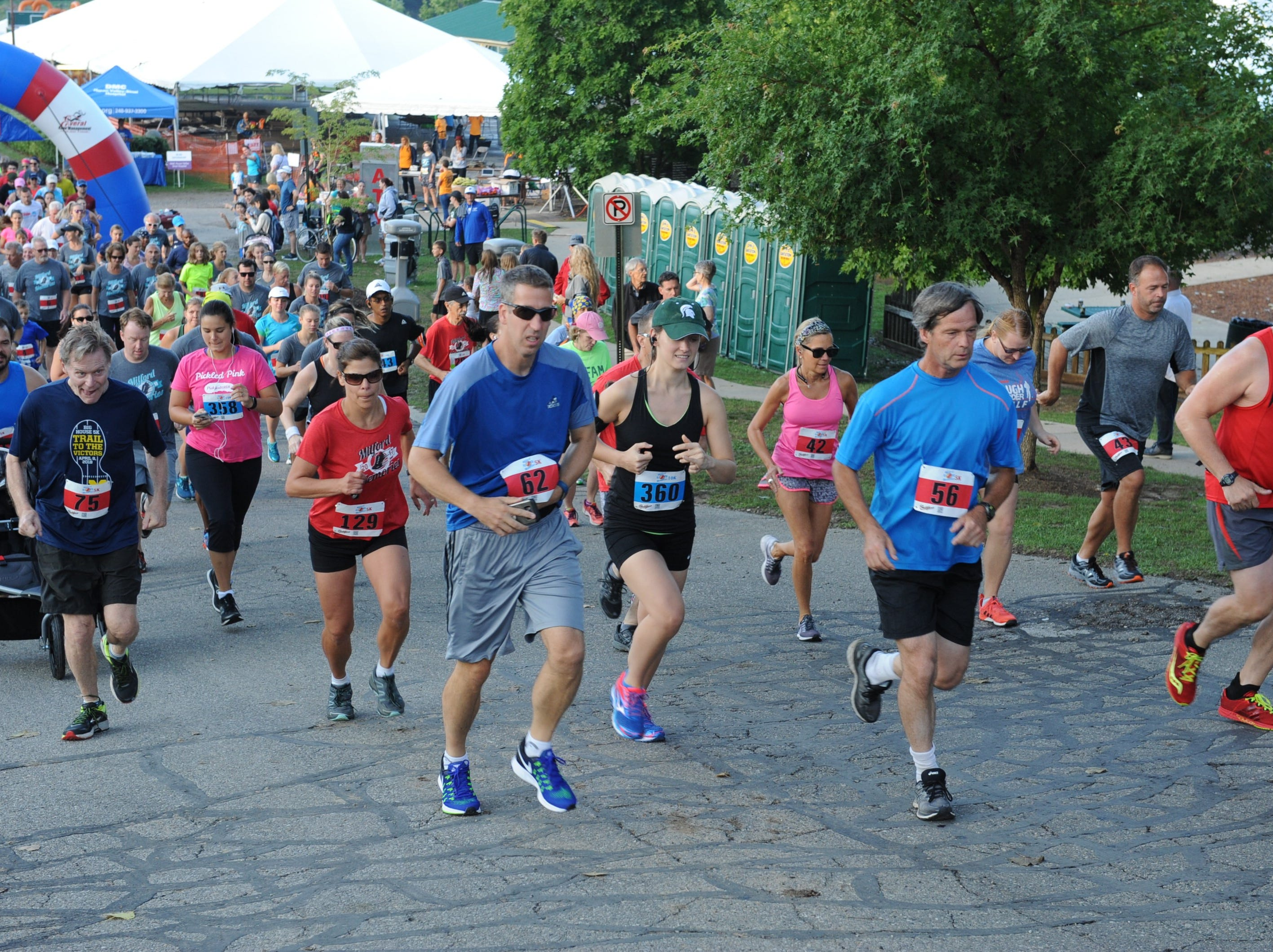 Runners take to the streets of Milford for the start of the 5K and 10k.