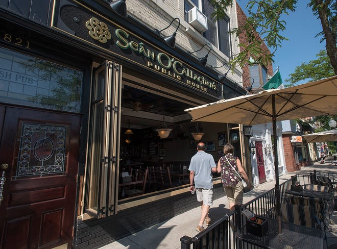Sean O' Callaghan's Public House has a brand new look with large windows opened up to the sidewalk and patio.