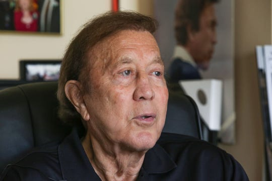 Former NFL head coach of the Oakland Raider's Tom Flores at his Indian Wells home, August 9, 2018.