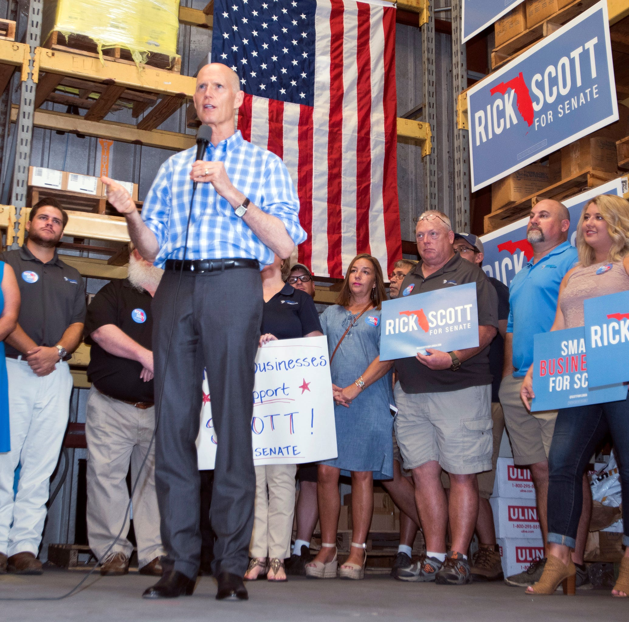 Rick Scott questions Bill Nelson's Russian hacking comments during stop in Pensacola