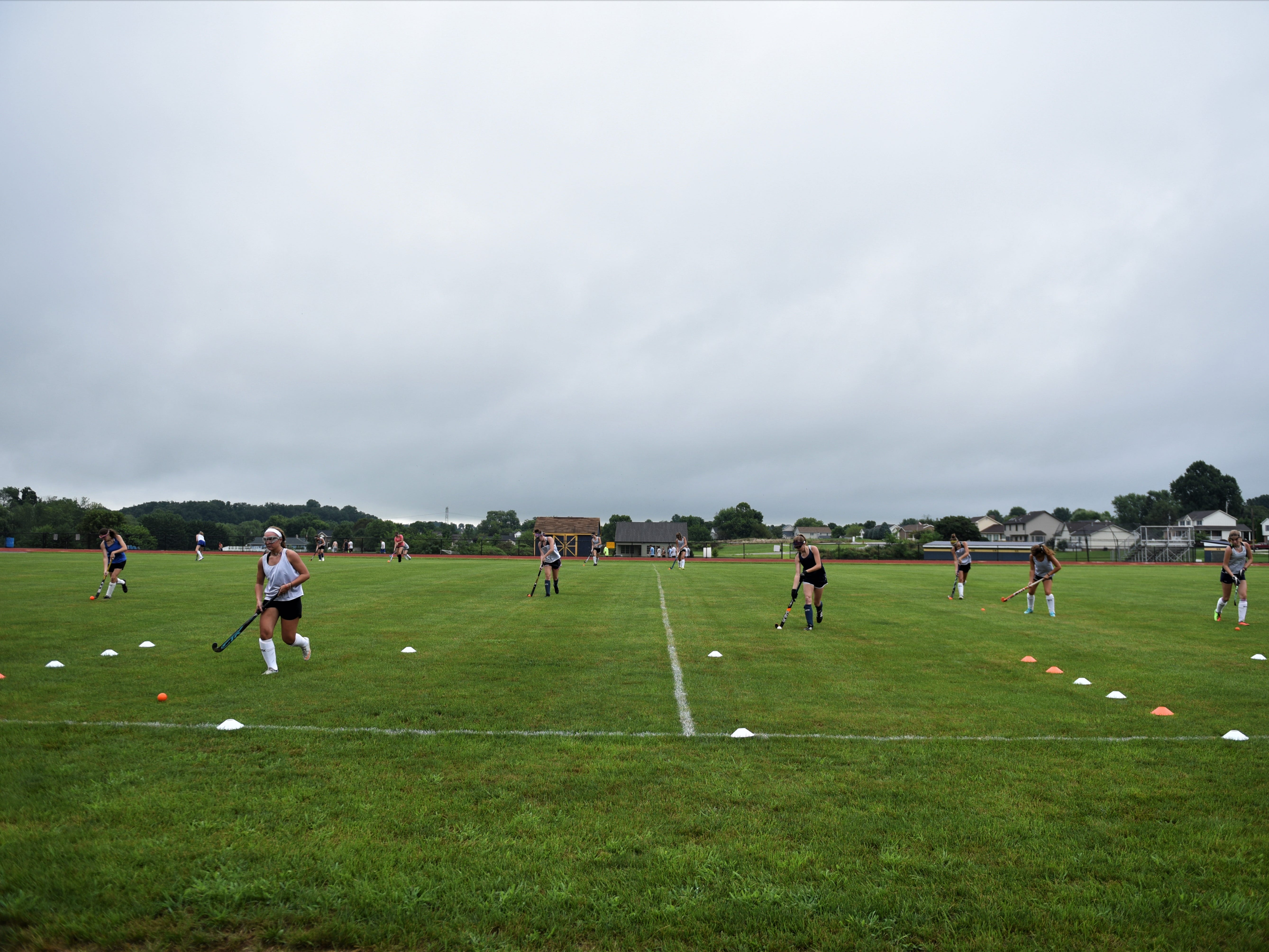Littlestown field hockey works hard on the first day of fall sports on Aug. 13, 2018.