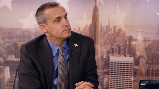 """Former Trump campaign manager Corey Lewandowski is interviewed on episode five of """"Who Is America?"""" on Showtime."""