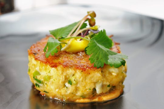 The crab cake is one of the signature dishes at Creekside American Bistro.