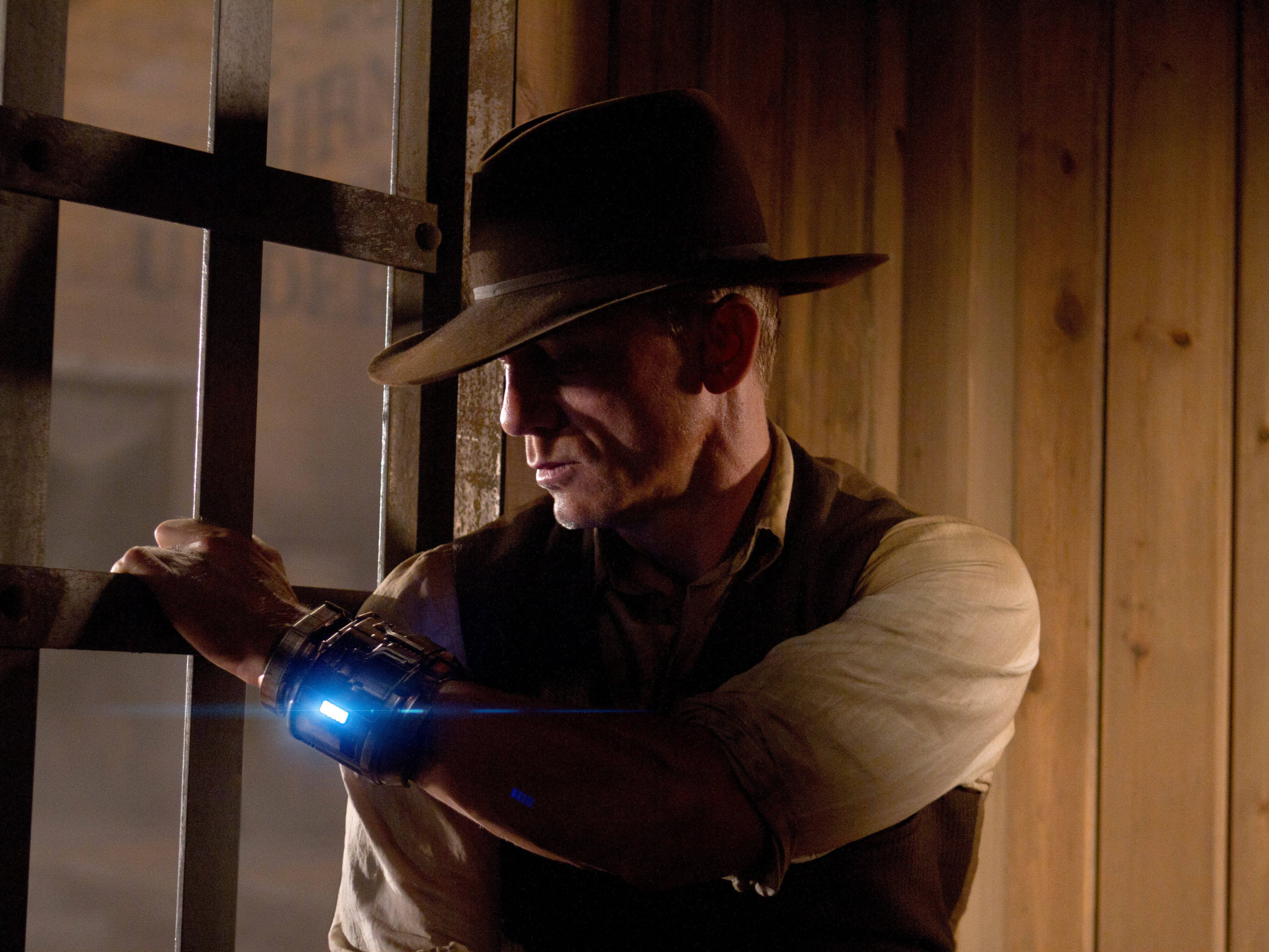 """'Cowboys & Aliens' (2011): Set in the alien-ridden dusty town of Absolution, in the Arizona territory, a hodgepodge of genres converge in thissci-fi Western starring Harrison Ford and Daniel Craig. Though many would say Arizona certainly has its experiences with extraterrestrial visitors, we think New Mexico has us beat. Roswell, anyone? """"Cowboys & Aliens"""" was filmed in and around Santa Fe, including Bonanza Creek Ranch."""