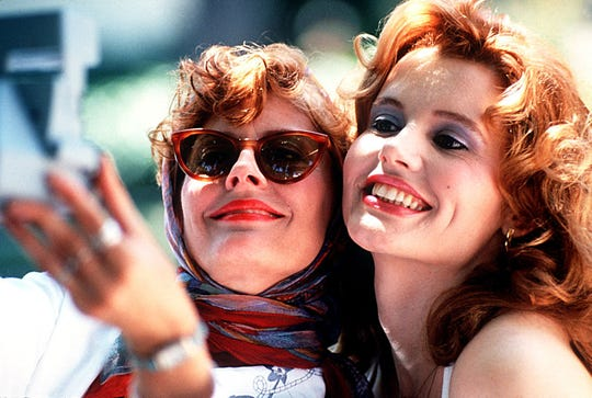 'Thelma and Louise' (1991): The image of this dedicated duo (Geena Davis and Susan Sarandon) accelerating their sky-blue 1966 Ford Thunderbird over the edge of the Grand Canyon is one of those unmistakable, immortal pieces of cinema. But that wasn't the Grand Canyon. The finale was filmed in Moab, Utah.