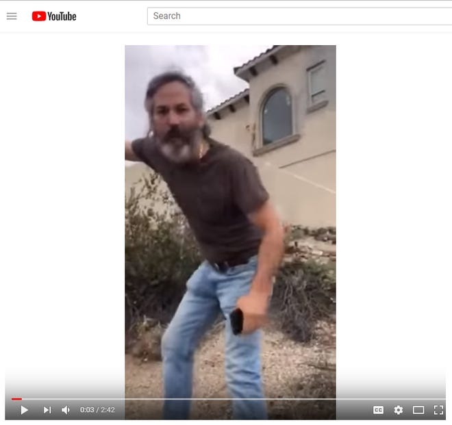 In a video posted to YouTube, former Mesa city councilman Bill Jaffa appears to call the police on a hiker he accuses of trespassing. The hiker said they were not walking on Jaffa's property. Jaffa has apologized for the dust-up.