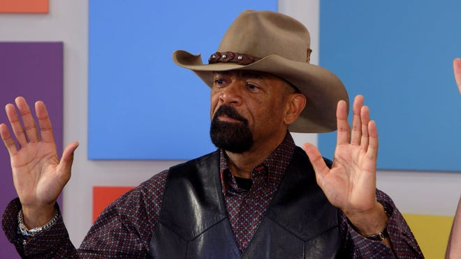 """Former Sheriff David Clarke on """"Who Is America?"""" on Showtime."""