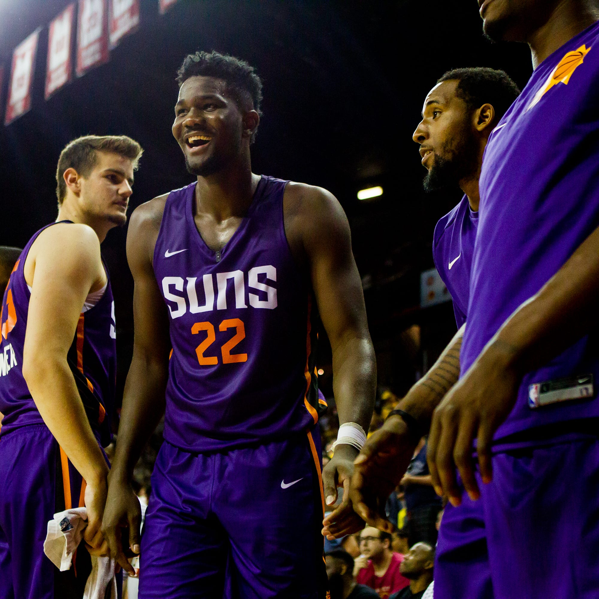 Suns rookie Deandre Ayton drew himself dunking on Joel Embiid