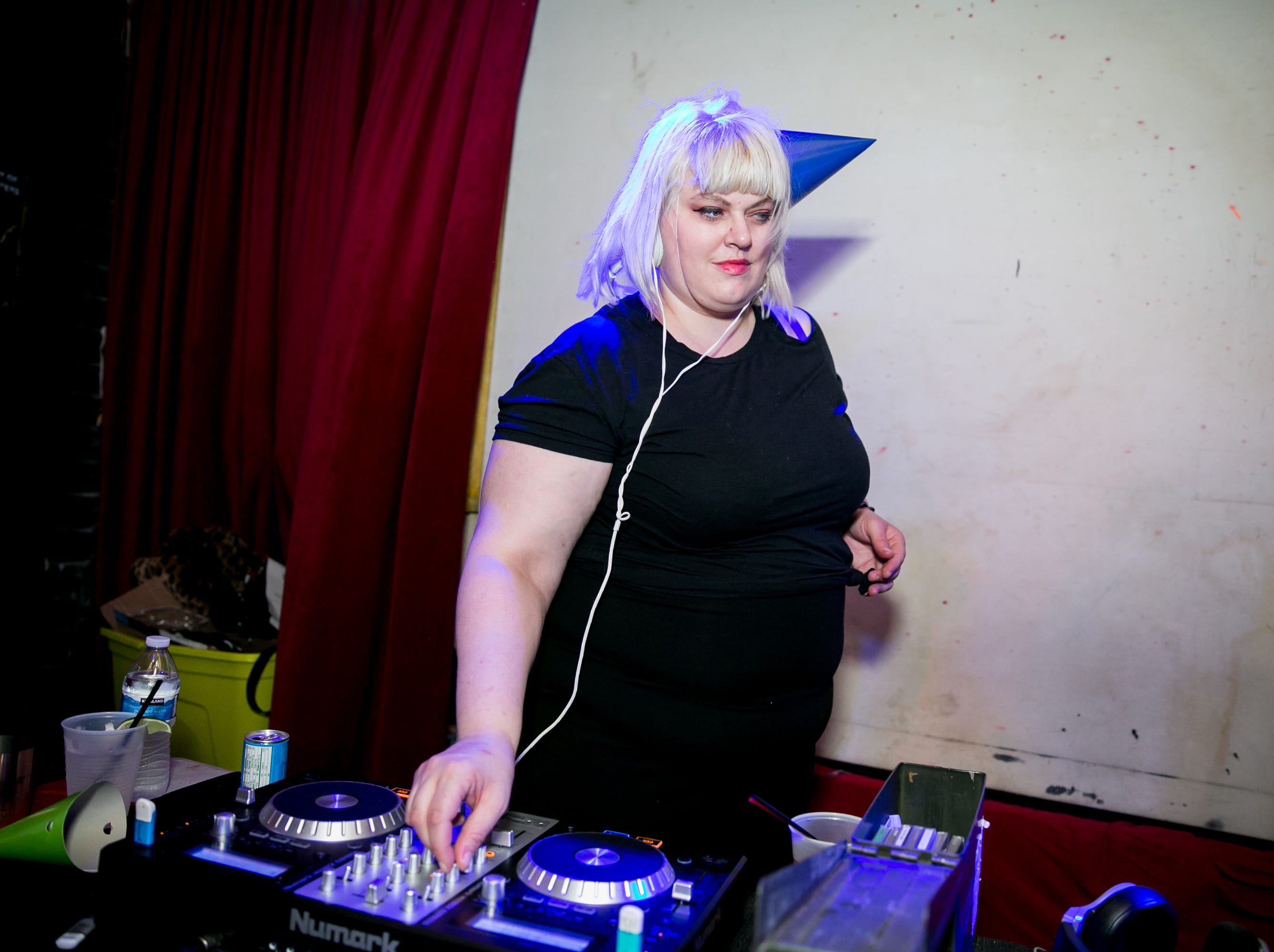 //SHE// brews up some great beats at Cupcake's Cattitude, a cat and pizza-themed dance party, at Rogue Bar in Scottsdale, on Friday, August 10, 2018.