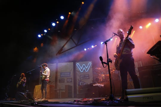 Weezer performs at Ak-Chin Pavilion in Phoenix, Sunday, August 12, 2018.