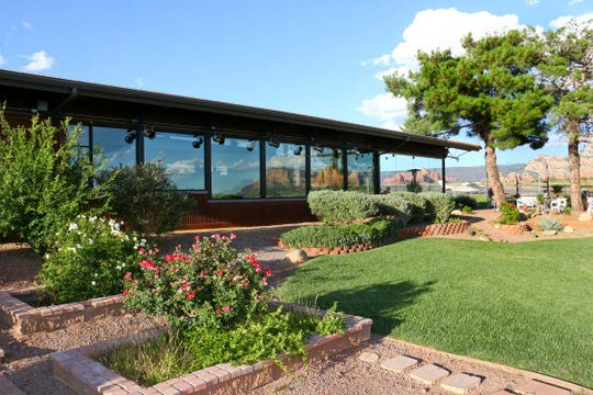 Open and airy, Mesa Grill sits at the Sedona Airport atop a high mesa with panoramic views accompanying the meal.