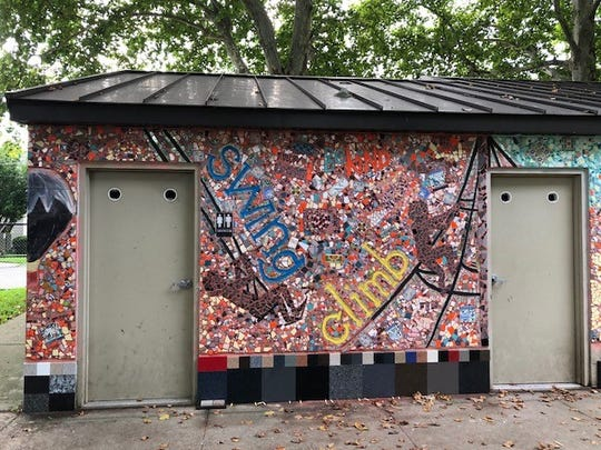 The Sixth Street Playground mosaic is now complete thanks to arts camp participants.