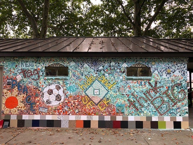The Sixth Street Playground Mosaic takes up more than 240 square feet.