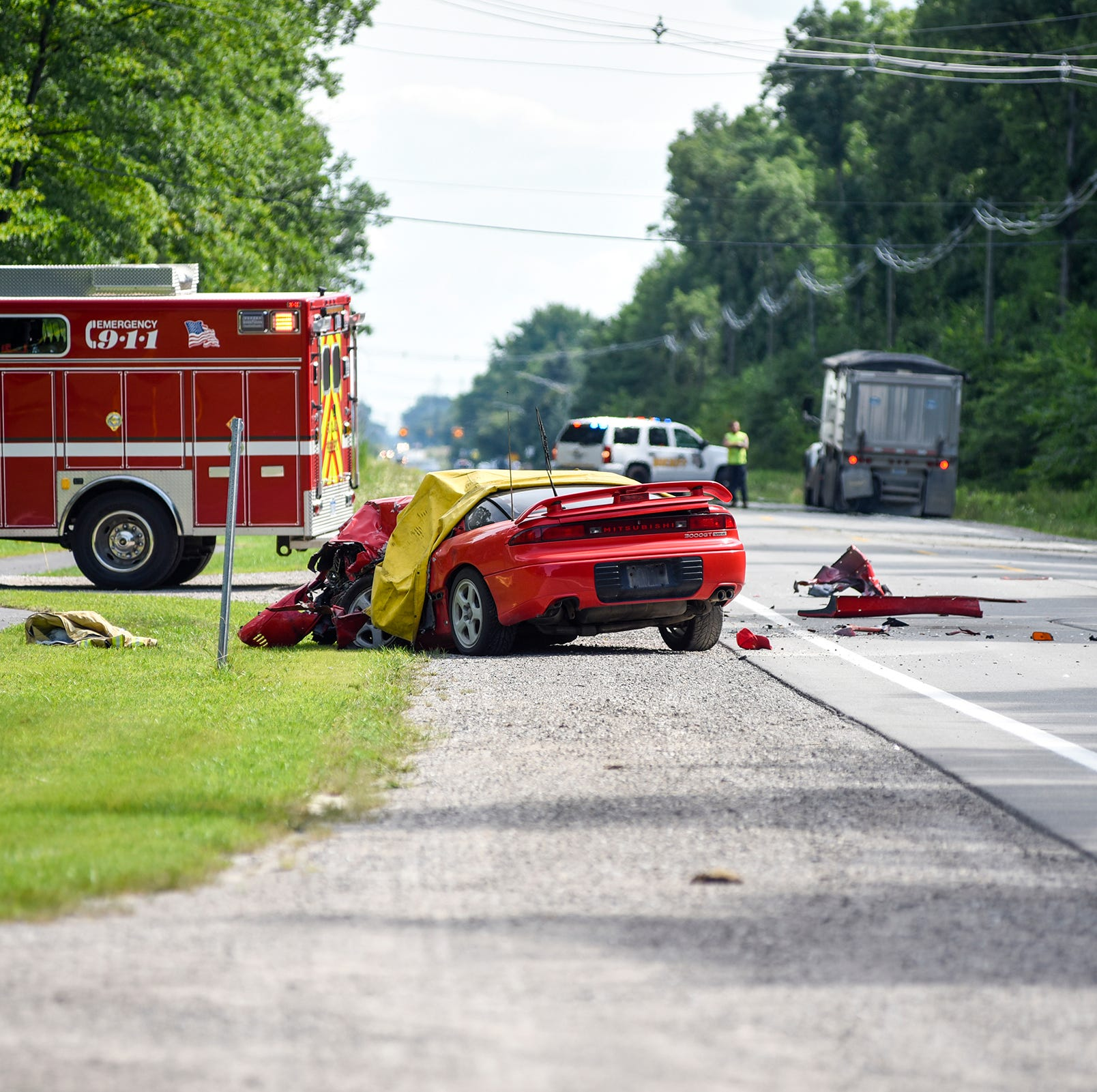East China Township man killed in crash with semi