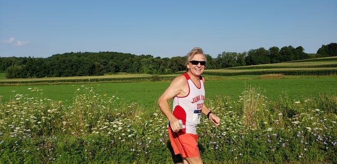 Krys Wasielewski runs during the Hilltopper Half Marathon in Millbrook on Aug. 5.