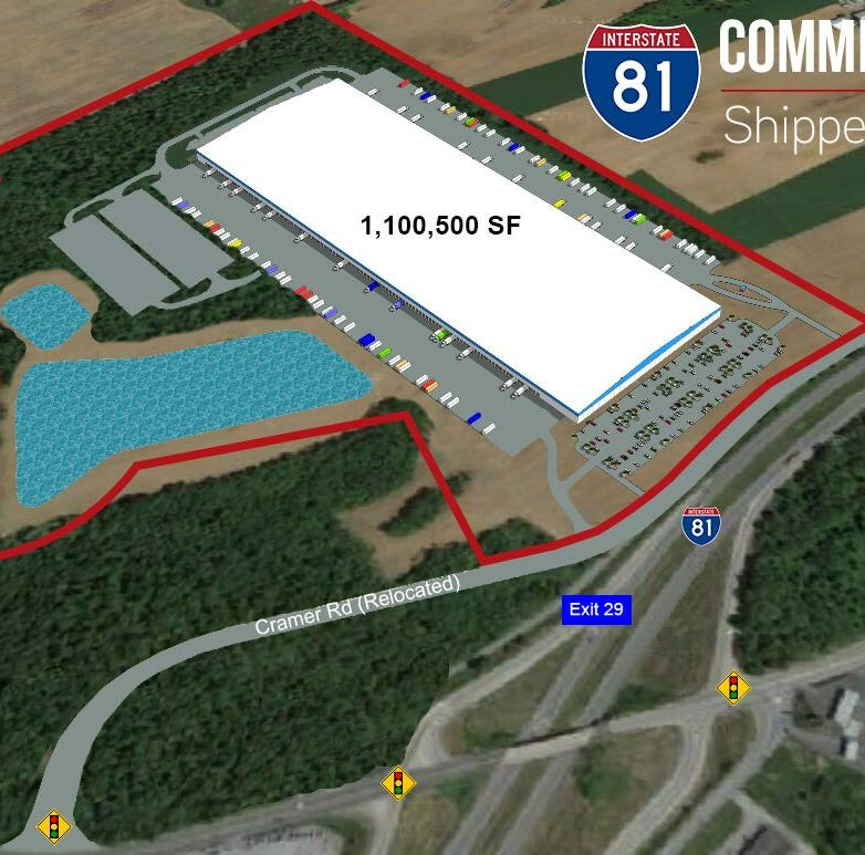 Construction begins on big box warehouse at Shippensburg