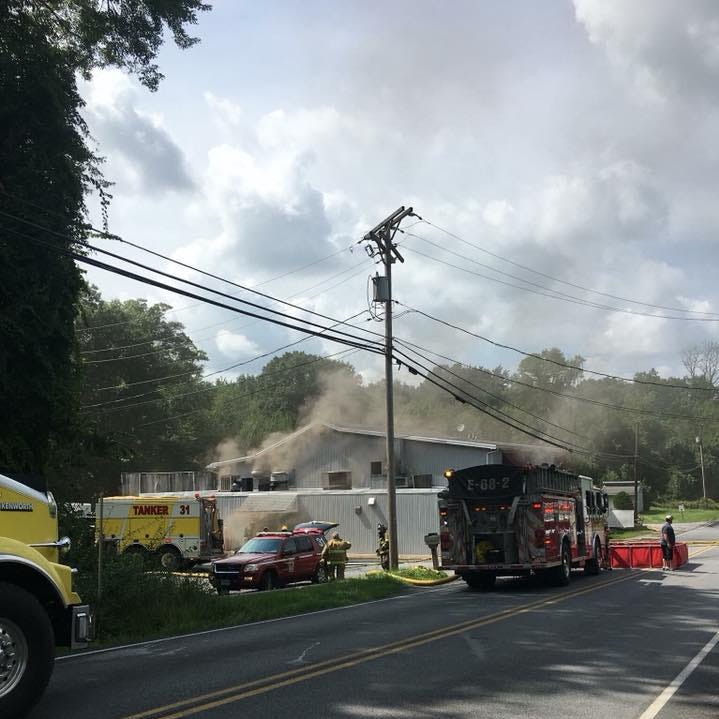 A fire in Newberry Township heavily damaged a building that used to be a restaurant on Sunday, Aug. 12. Photo courtesy of Newberry Township Fire Department.